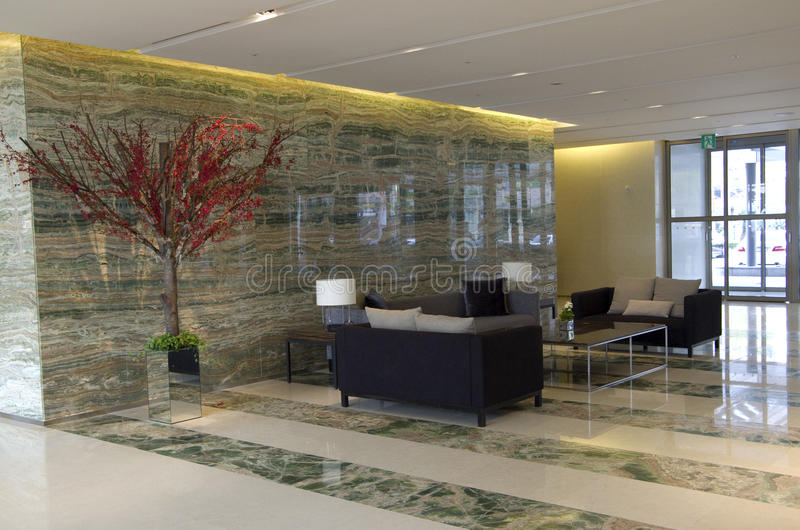 Modern luxury hotel lobby furniture royalty free stock images