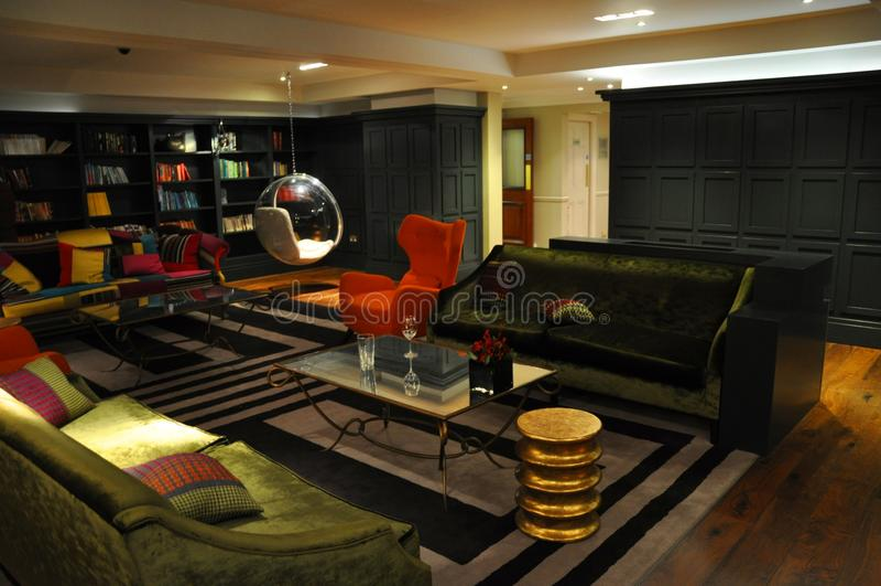 modern luxury interior lounge stock image