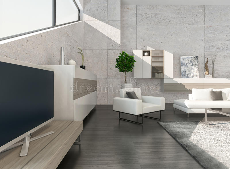Download Modern Luxury Living Room Interior With Nice Furniture Stock  Illustration   Image: 41134329