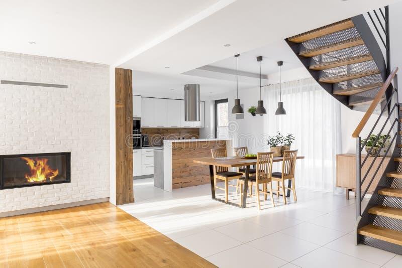 Modern luxury open plan apartment stock image