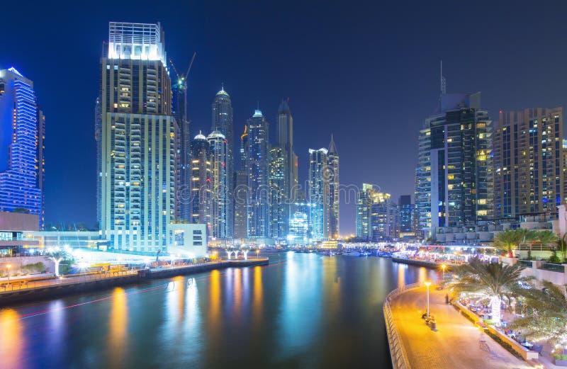 Modern and luxury skyscrapers in Dubai Marina,Dubai,United Arab Emirates stock photos