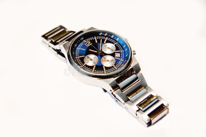 Modern luxury watch. Detail of modern luxury wrist watch royalty free stock image