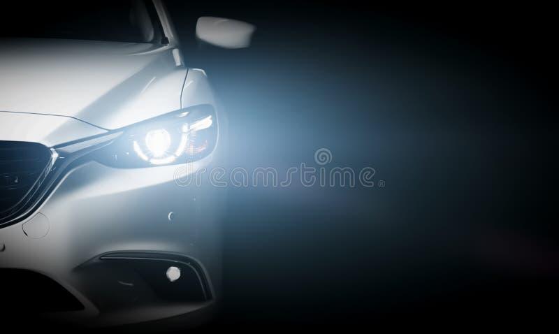 Modern lyxig bakgrund för bilnärbildbaner royaltyfria bilder