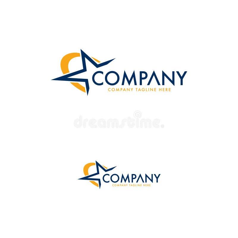Modern lyxig stjärna Logo Design Template vektor illustrationer