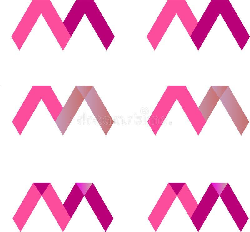 Modern m-brievenembleem stock illustratie