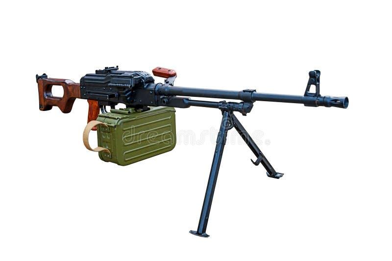 Modern machine gun isolated on a white background. Stock photo royalty free stock image