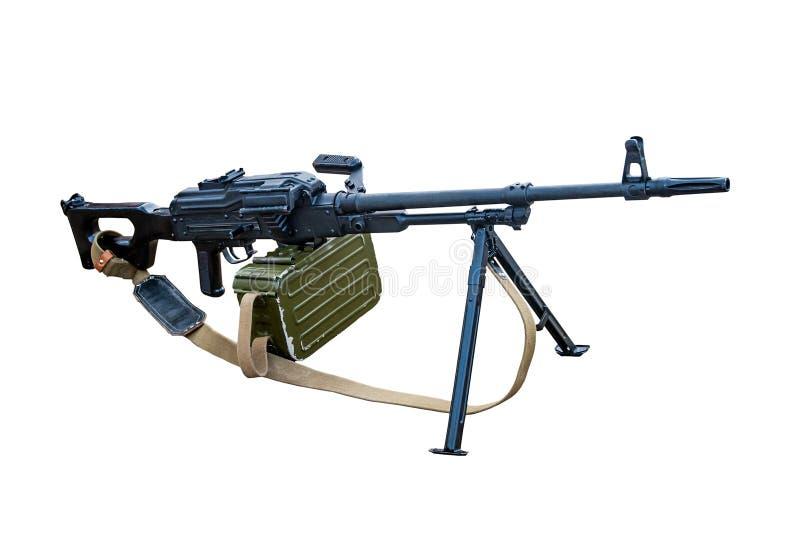 Modern machine gun isolated on a white background. Stock photo stock photo