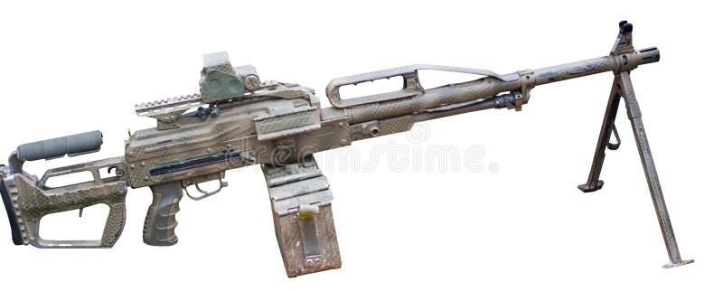 Modern machinegun on white. Background royalty free stock images