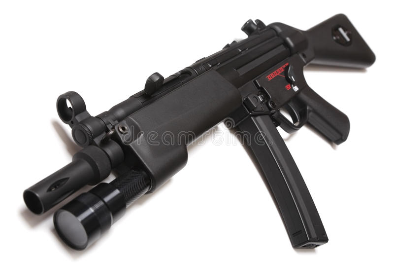 Modern machinepistool royalty-vrije stock foto's