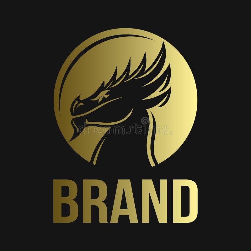 Modern majestic dragon logo. Vector illustration. Modern majestic dragon logo. This design is scaled to large sizes royalty free illustration