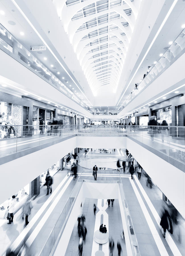 Modern mall royalty free stock photo