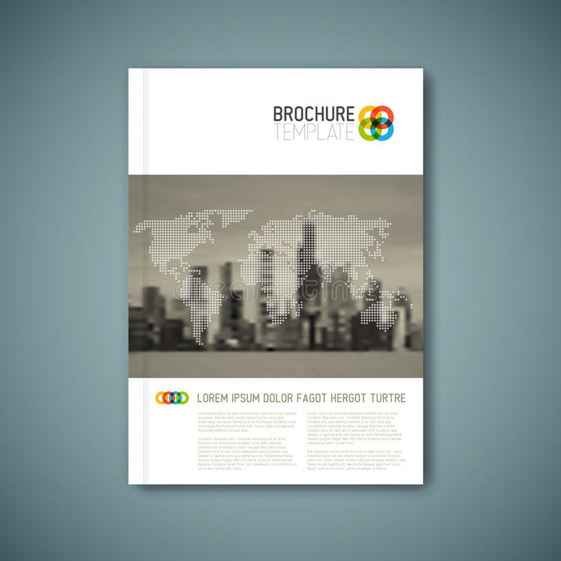 Modern mall för design för rapport för vektorabstrakt begreppbroschyr royaltyfri illustrationer