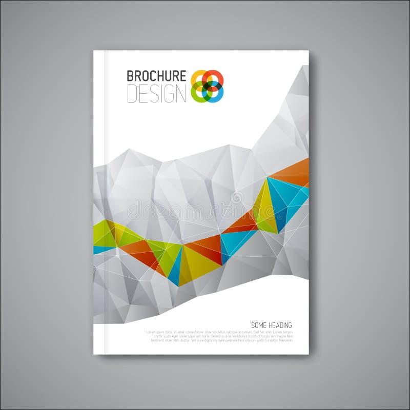 Modern mall för design för vektorabstrakt begreppbroschyr vektor illustrationer