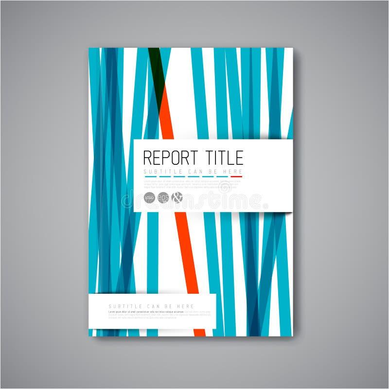 Modern mall för design för vektorabstrakt begreppbroschyr royaltyfri illustrationer