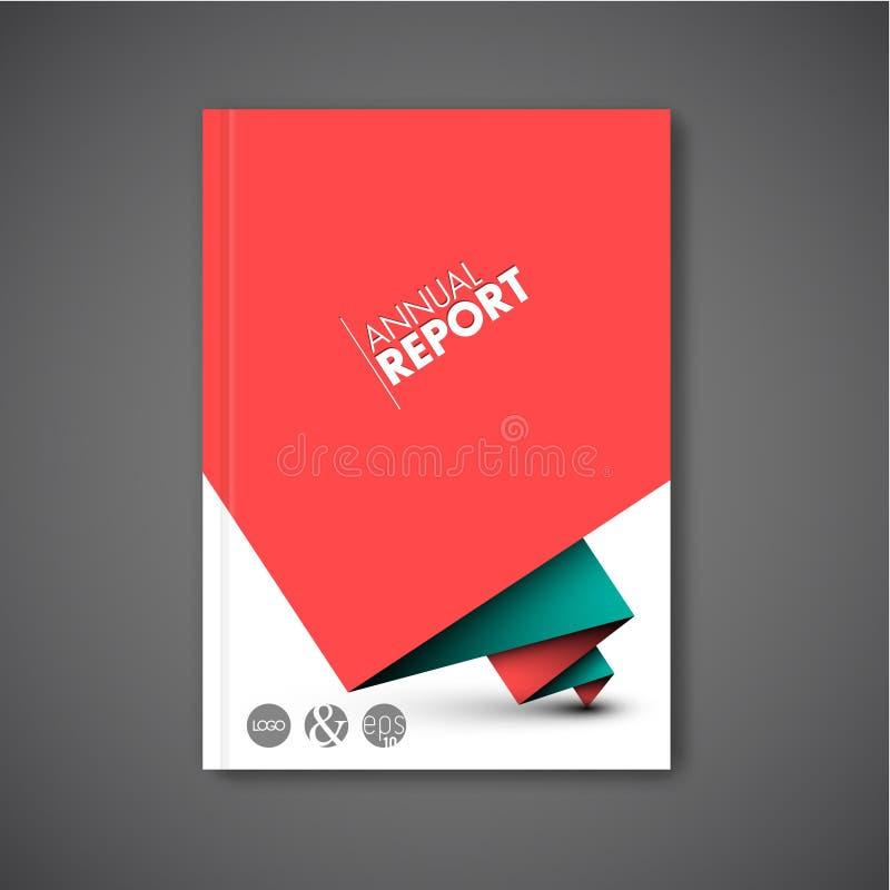 Modern mall för design för vektorabstrakt begreppbroschyr stock illustrationer