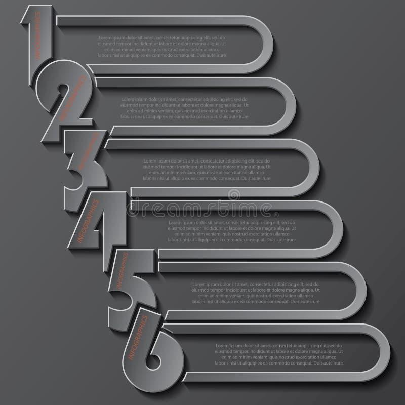 Modern mallinfographicsdesign med nummer för din busine vektor illustrationer