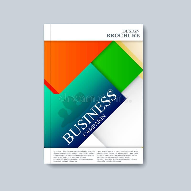 Modern mallorienteringsbroschyr, tidskrift, reklamblad, häfte, räkning eller rapport i formatet A4 för din design också vektor fö royaltyfri illustrationer