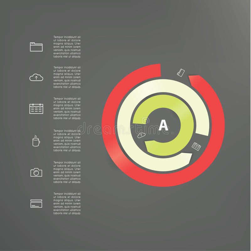 modern mallvektor Abstrakt cirkulering Tre avbruten cirkel stock illustrationer