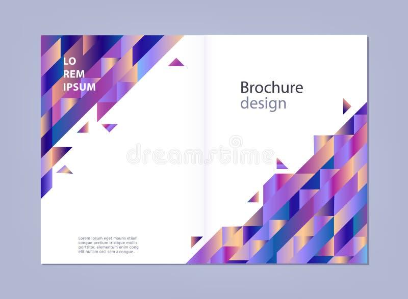 Modern malplaatje voor bedrijfsbrochure of promotieaffiche met abstracte gradiënt geometrische vormen royalty-vrije illustratie