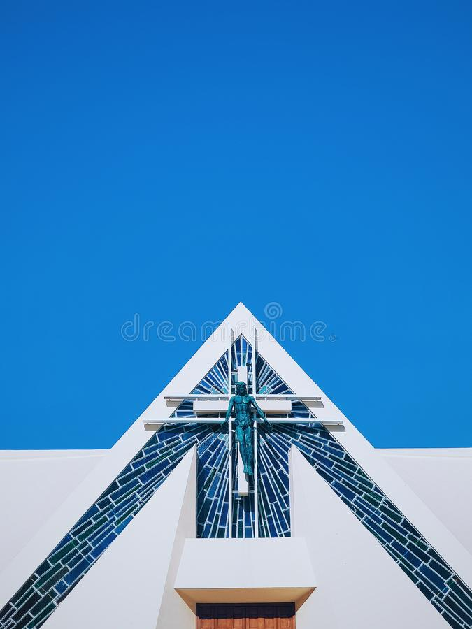 Modern Maltese Church. Minimalistic and modern Maltese church. Religion game is strong in Malta royalty free stock images