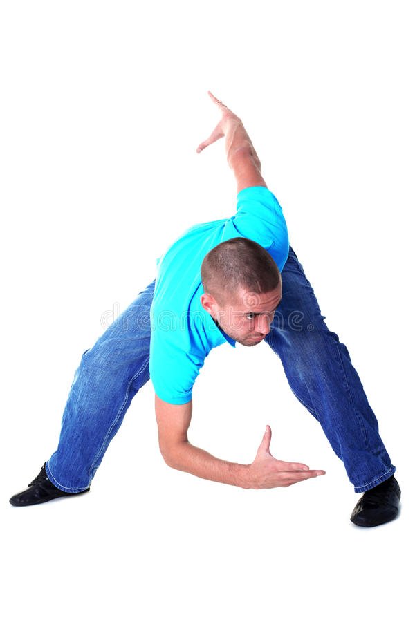 Modern man dancer royalty free stock image