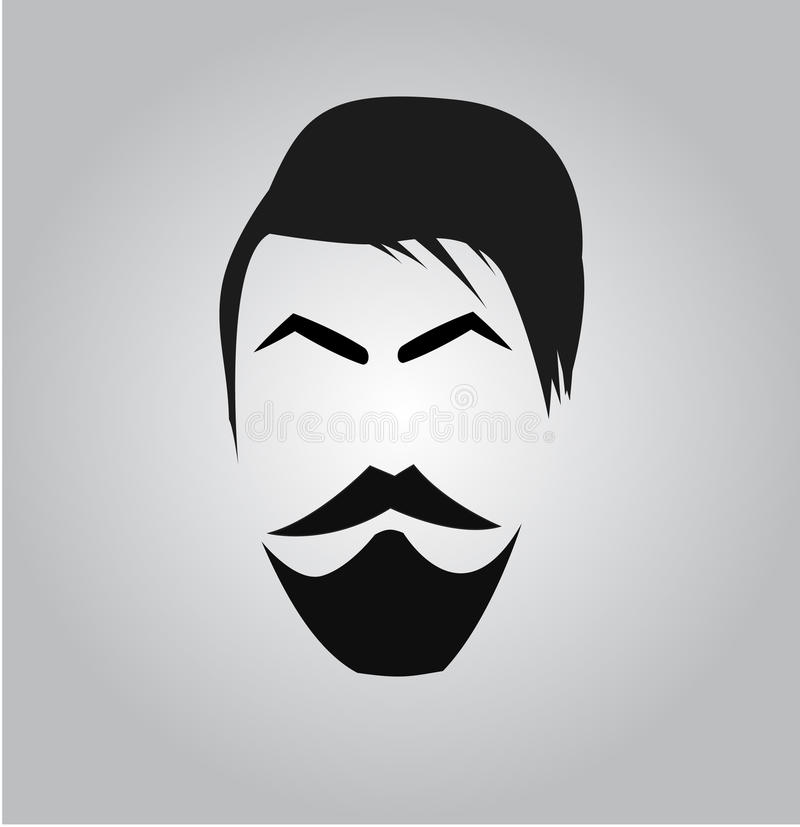 Modern Man face. Illustration of a manly face vector illustration