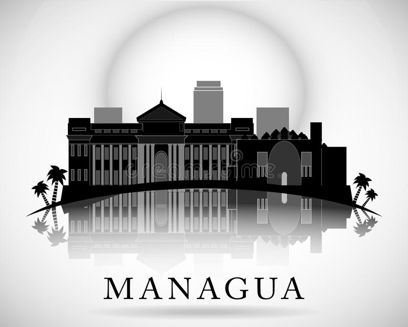 Modern Managua City Skyline Design. Nicaragua stock illustration