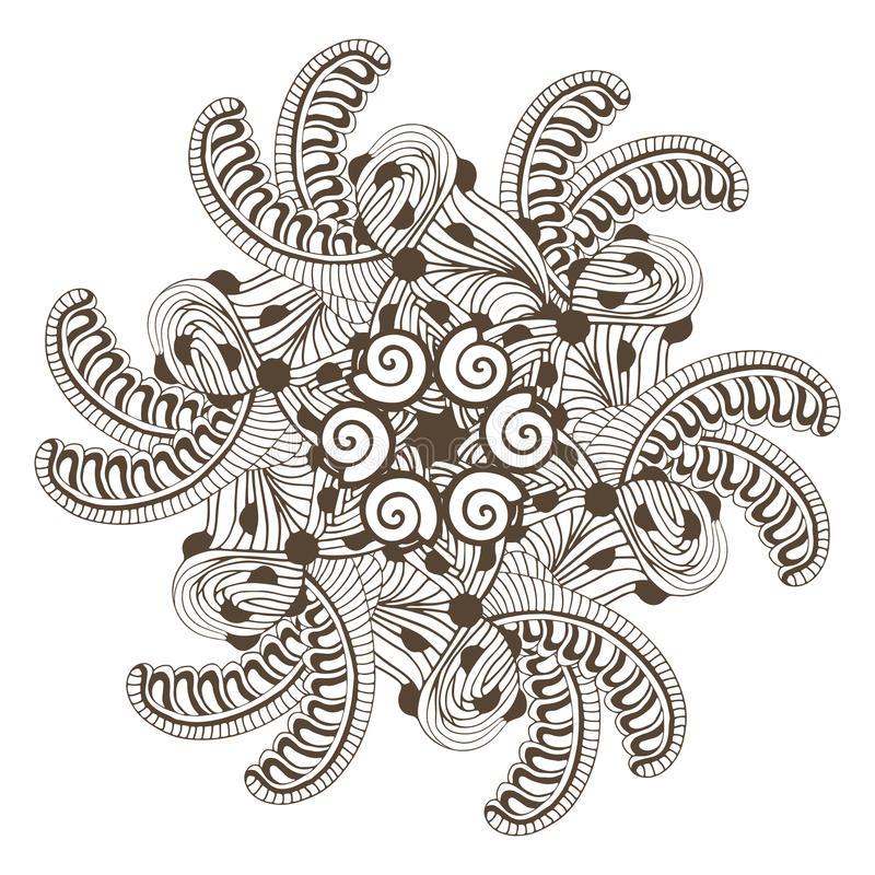 Modern Mandala In Zentangle Style For Coloring Book Pages ...