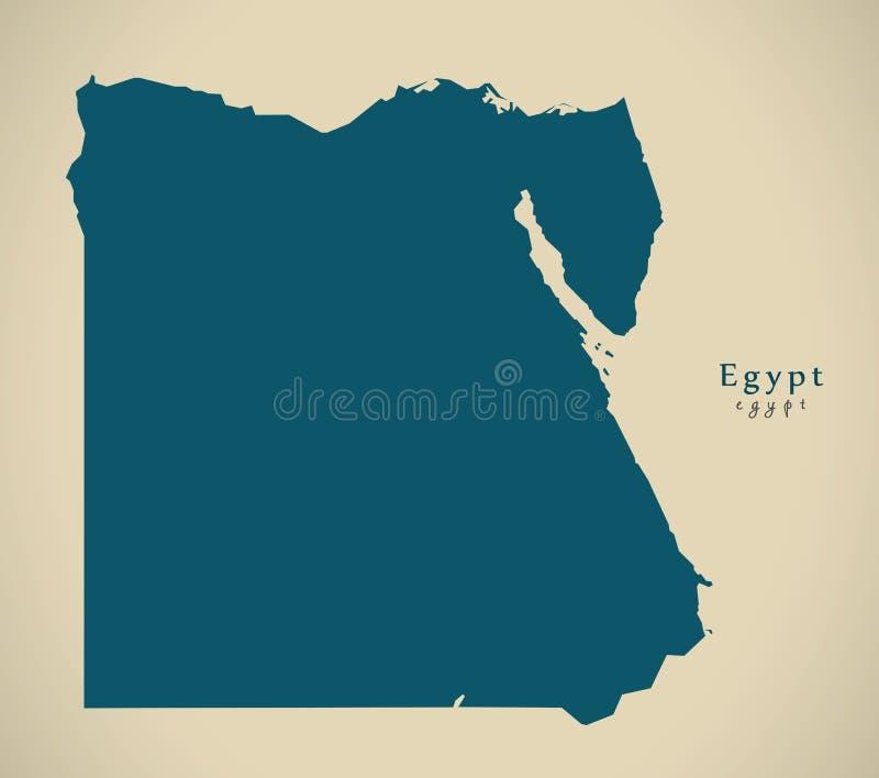 Modern Map - Egypt EG royalty free illustration