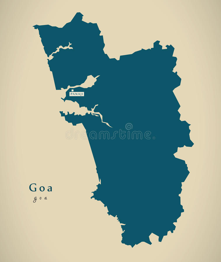 Modern map goa in india federal state illustration stock download modern map goa in india federal state illustration stock illustration illustration of county gumiabroncs Image collections