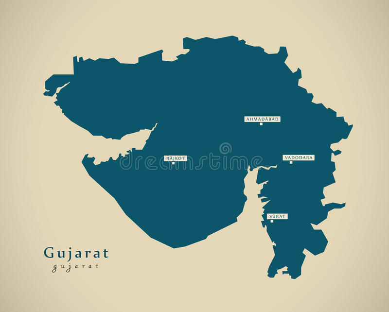 Modern map gujarat in india federal state illustration stock download modern map gujarat in india federal state illustration stock illustration illustration of area gumiabroncs Choice Image