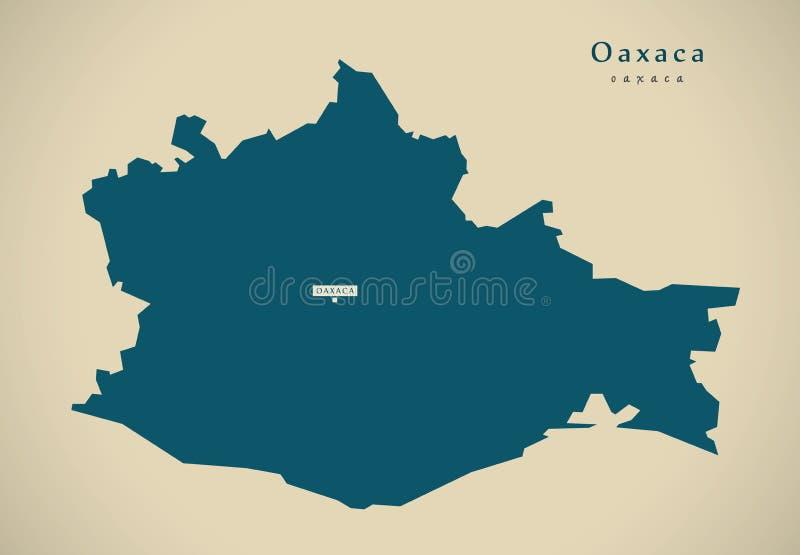 download modern map oaxaca mexico mx stock illustration illustration of regions provinces