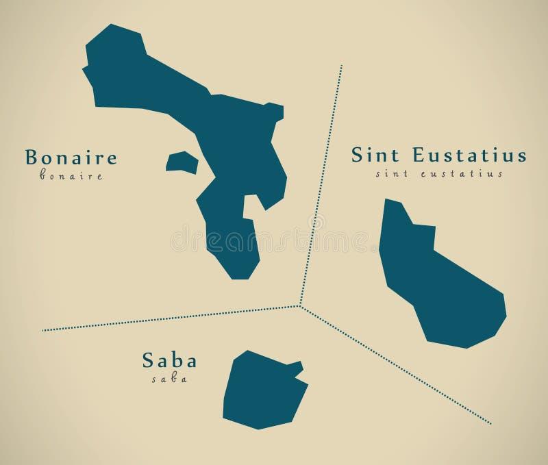Modern Map - Overseas provinces NL. Illustration vector illustration