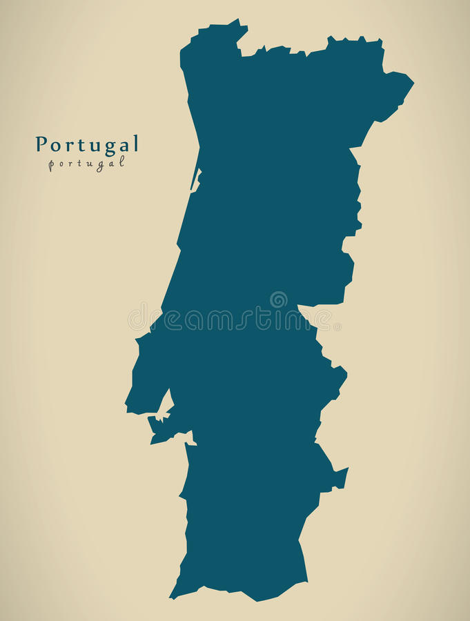 Modern Map - Portugal PT country silhouette. Illustration vector illustration