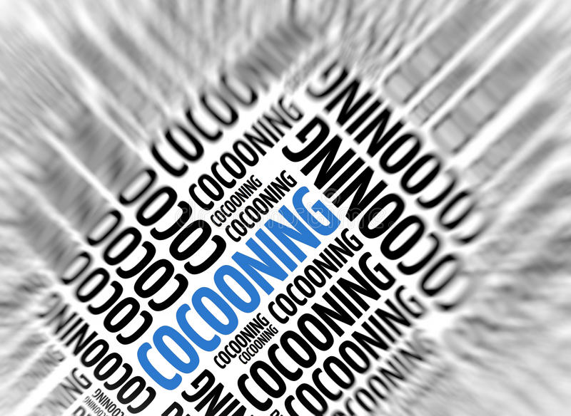 Modern marketing background - Cocooning. Marketing background - Cocooning - blur and focus vector illustration