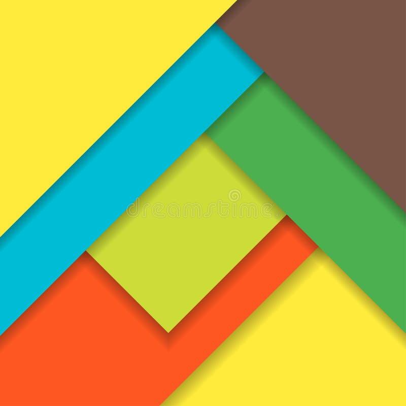 Modern materiell design för bakgrund också vektor för coreldrawillustration stock illustrationer