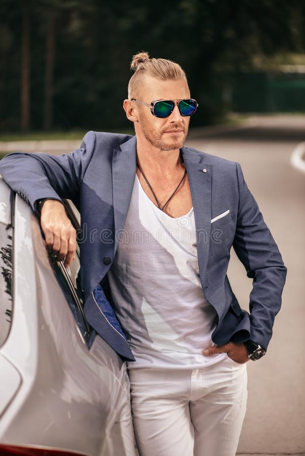 Handsome driver man royalty free stock photography
