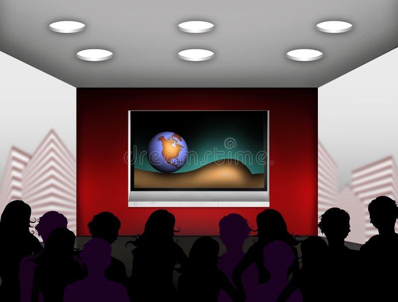 Modern media room stock illustration