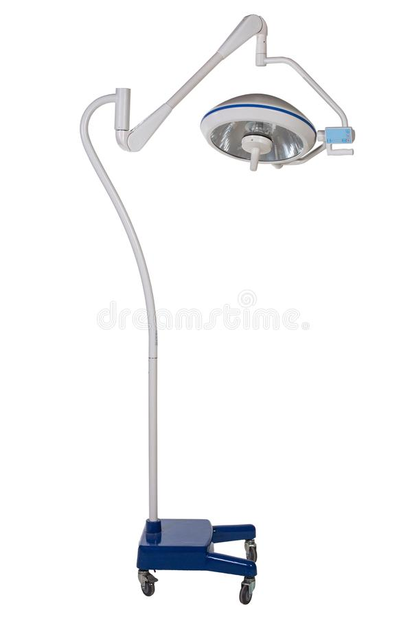 Modern medical equipment - adjustable surgery lamp in operating stock photography