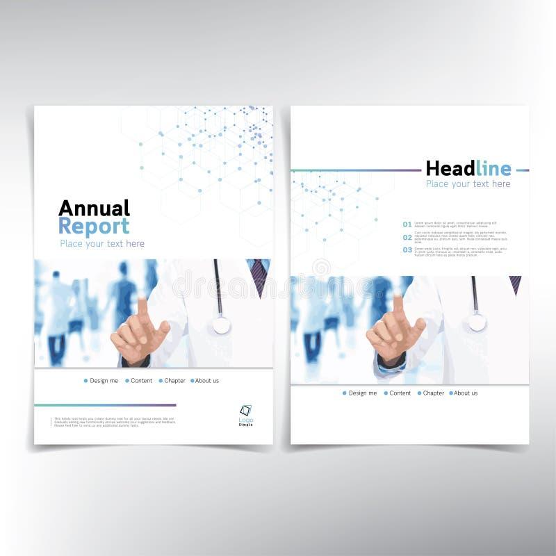 Modern medicinsk årsrapporträkning vektor illustrationer