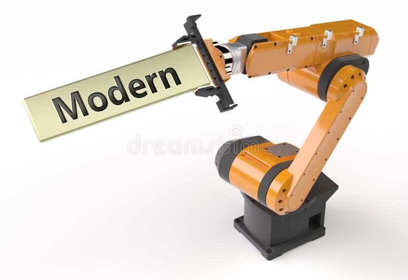 Modern metal sign vector illustration