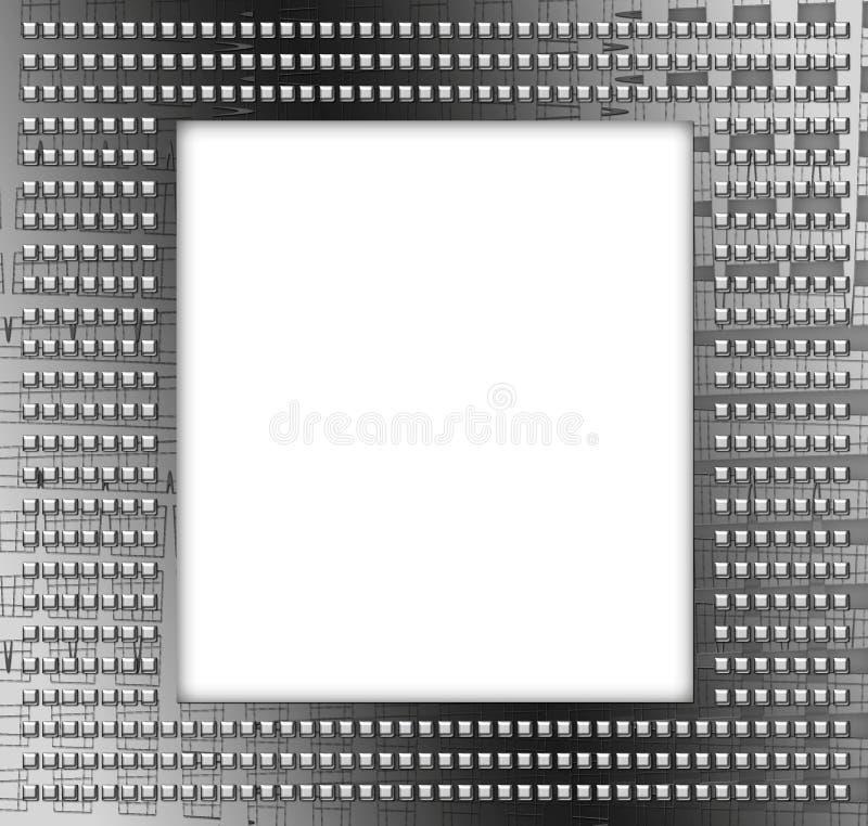 Modern metallic frame stock photography