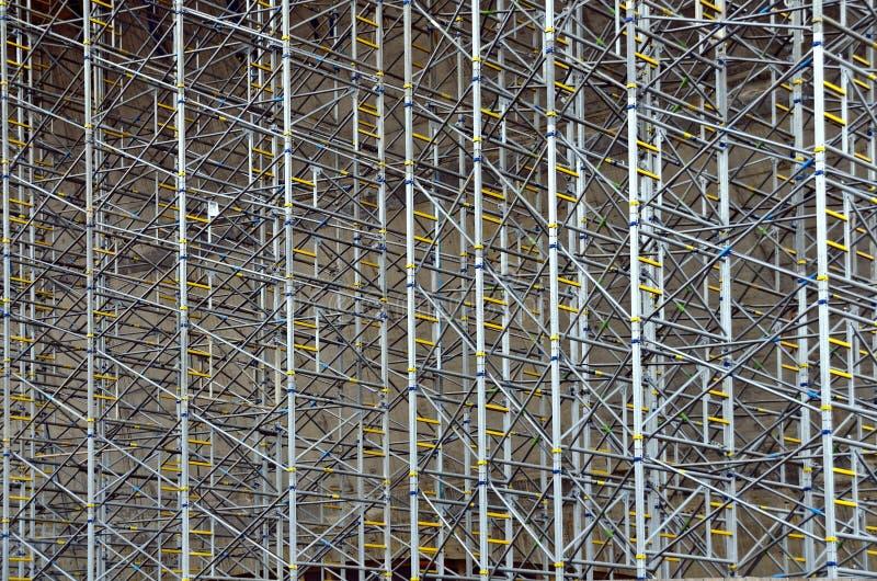Modern metallic scaffold royalty free stock photography