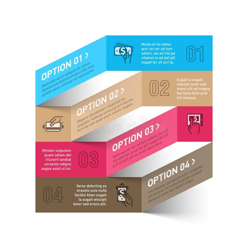 Modern metod av betalninginfographicsmallen royaltyfri illustrationer