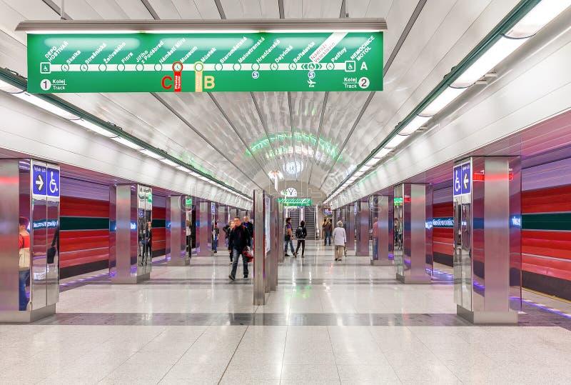 Modern metro station in Prague. royalty free stock photography