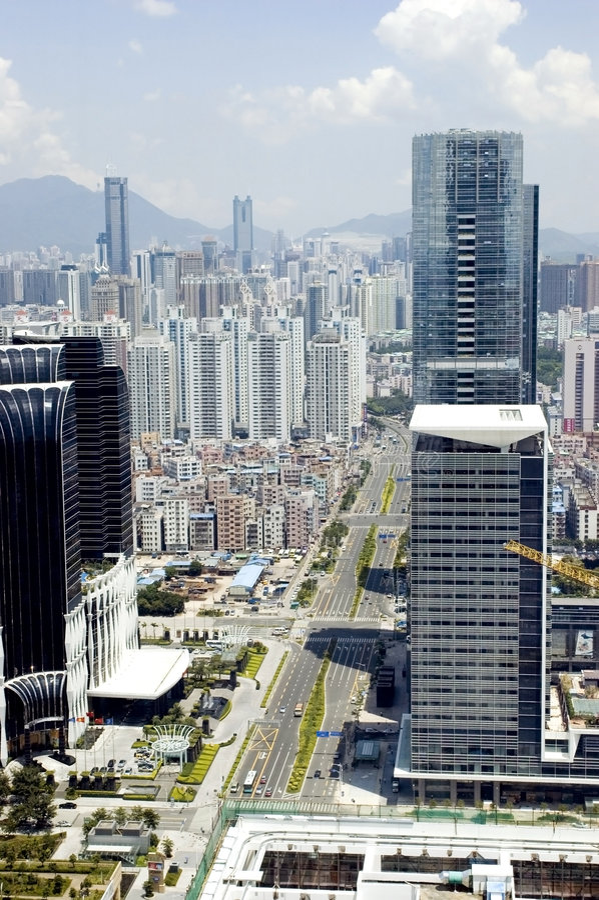 Modern metropolis cityscape royalty free stock images
