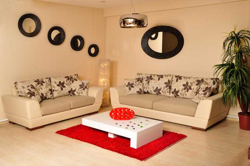 Modern meubilair stock fotografie