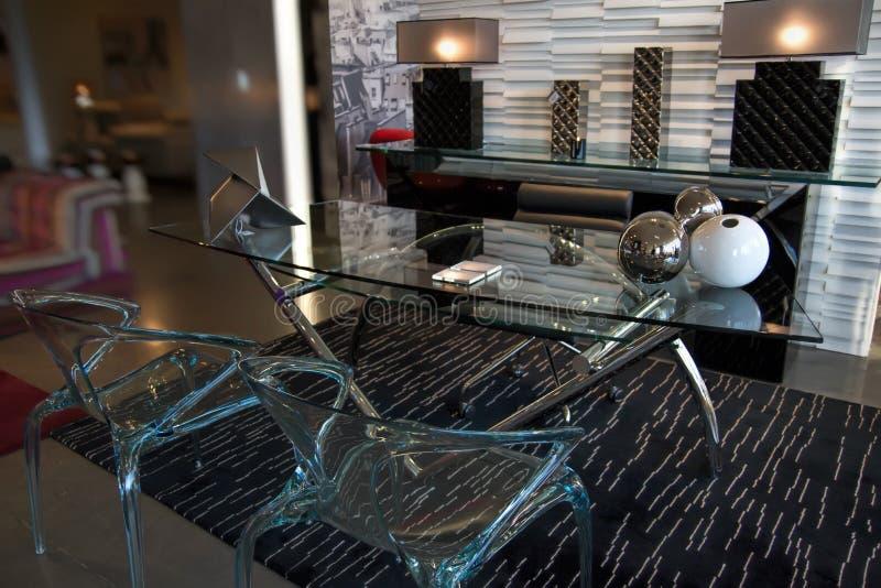 Modern meubilair en meubilair royalty-vrije stock afbeelding