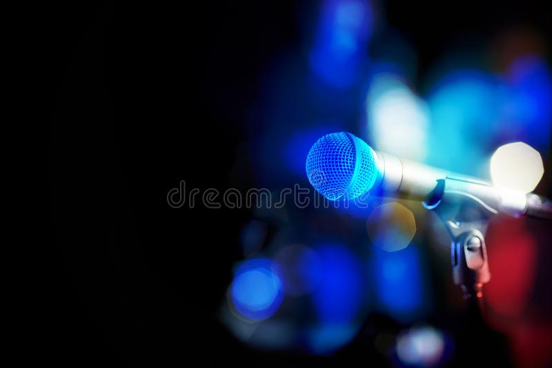 A modern microphone for singing. royalty free stock photos