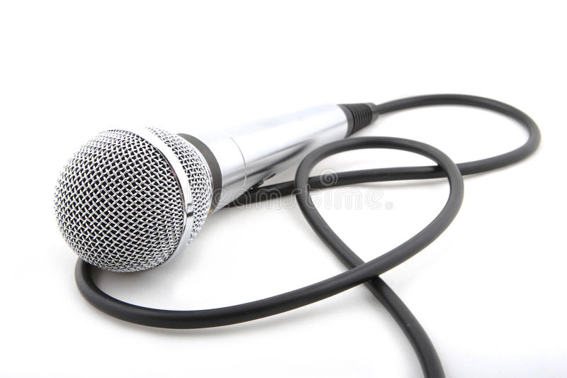 Modern microphone royalty free stock photography